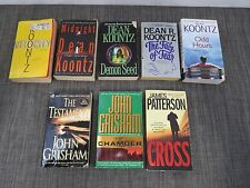 DEAN KOONTZ JAMES PATTERSON JOHN GRISHAM PAPERBACK BOOK LOT OF 8 /I6