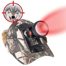 Night Hunting Lights Cap 3W LED Red Headlight for Predator Coyote Fox Hog Coon