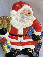 Fitz And Floyd Canape Plate Santa Claus Christmas Cookies Decorative Ceramic