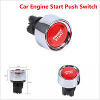 Universal 12V-24V Car Engine Start Push Button Switch Ignition Starter Red LED