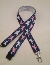 Cheval Papillons cordon de sécurité Clip ID Badge Holder Handmade étudiant Cadeau