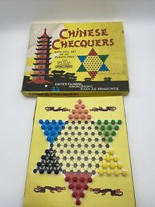 166y Vintage Chinese Chequers/Checquers Spears Board Game 1960s Rare Classic