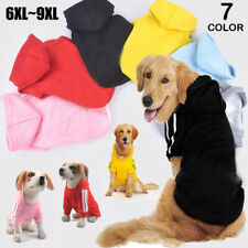 6XL~9XL Winter Casual Pets Dog Clothes Warm Hoodie Coat Jacket Clothing For Dogs