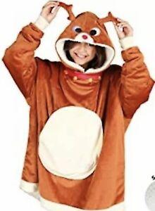 New The Comfy Original Blanket Sweatshirt Kids Reindeer Rudolph