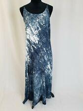Hard Tail Forever women M long maxi dress strappy back side slit sleeveless