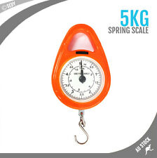 0 - 5kg / 11lb Portable Hand Hanging Hook Scale Weight Spring Balance Kitchen