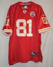 Reebok Kansas City Chiefs Moeaki 81 Jersey Size 52 (XL) NFL Football Sewn