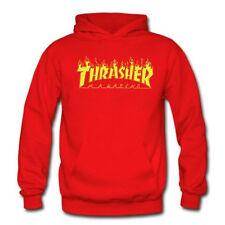 Autumn Winter Women/Men Thrasher Hip-hop Skateboard Hoodie Sweater Sweatshirts