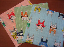 3 Pack 45x50cm Sewing and Quilting Fabrics Polka Dot 100% Cotton Cartoon Design