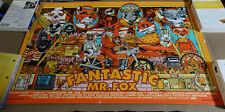 Fantastic Mr. Fox by Tyler Stout signed Screen Print Poster not Mondo
