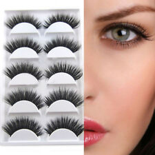 5 Pairs Luxurious 3d False Eyelashes Cross Natural Long Eye Lashes Makeup