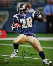 Marshall Faulk Autographed St Louis Rams 16x20 On Field PF Photo- JSA Witness Au