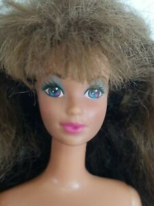 Vintage Mattel Barbie Doll Steffie Face 80-90s Brown Hair Blue Eyes Super Cute
