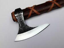 Custom Hand Forged Bearded Tomahawk Viking Axe Forest Bush Craft Free Sheath Usa