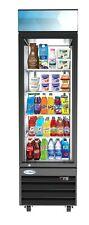 1 Door Glass Commercial Refrigerator Merchandiser Beverage Cooler 13 Cu