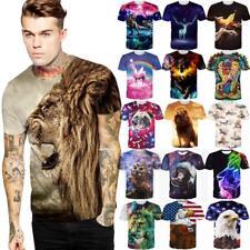 Novelty Animals 3D Print Womens/Mens T-Shirts Short Sleeve Casual Tee Tops S-3XL