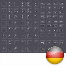 Pegatinas teclado alemán gris oscuro dell c510 d600 keystick German darkgrey New