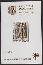 ANDORRA(SP) SOUVENIR SHEET  INT'L YEAR CHILD  1979   MINT