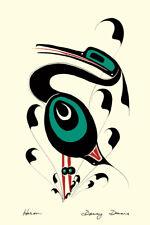 Heron Danny Dennis Art Card Tsimshian Northwest Coast Native
