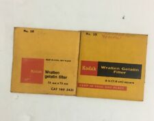Lot of 2 Kodak Wratten Gelatin Filter 75mm X 75mm No 2B 149 5431