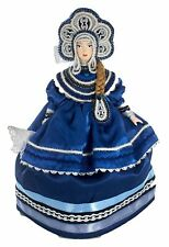 Porcelain tea cosy art doll Russian beauty folk costume Handmade souvenir