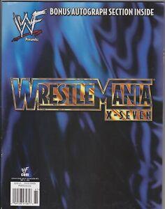 WWF Wrestlemania 17 X-Seven Wrestling Magazine Program 2001 WWE Rock Austin