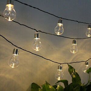 6x Large Edison Bulb Solar String Lights Retro Outdoor Garden Lamps Hanging