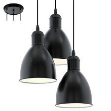 Lampadario vintage nero e bianco D.32,5 a 3 luci GLO 49465 Priddy