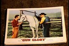 GUN GLORY 1957 LOBBY CARD #4 VINTAGE HORSE