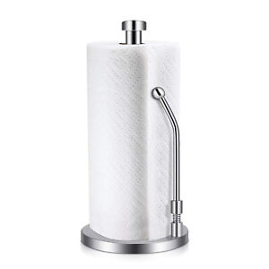 Stainless Steel Kitchen Roll Paper Towel Holder Paper Roll Tissue Storage Rack