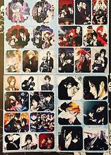 Kuroshitsuji Black Butler-CIEL SEBASTIAN ALOIS CLAUDE 4 Sticker Sheets #K3