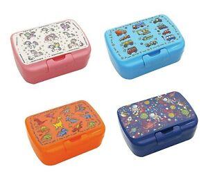 Children School Lunch Box Assorted Design Plastic Kids Food Meal Storage New