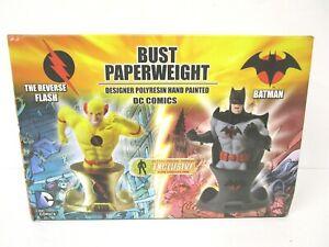 BATMAN & REVERSE FLASH Statue Bust Figure Set MIB DC Comics AF XPress Exclusive
