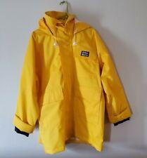 West Marine Nautical Gear Yellow Hooded Rain Jacket Coat Sz Mens Large