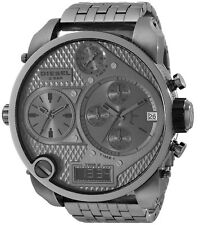 New Diesel Men DZ7247 SBA Chrono Round Dial Gunmetal Stainless Band Watch