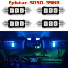 4X 39mm LED Error Free Festoon Dome Map Car Interior Bulb 211-2 3022 Super Blue