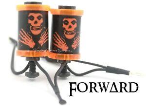 "1.25"" Tattoo Machine 8-32 Coils Transparent Orange Washers Custom Misfits Covers"