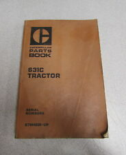 Caterpillar Cat 631C Tractor Parts Manual 67M4581 1976