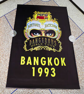 "Michael Jackson ""Dangerous World Tour"" 1993 Bangkok HUGE POSTER Thailand Promo"
