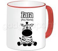 Personalised Gift Animal Happy Zebra Mug Novelty Birthday Present Idea Any Name