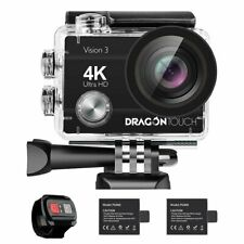 Dragon Touch Vision 3 4K/30fps Action Camera WIFI 16MP DV Camcorder Waterproof