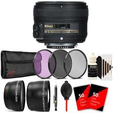 Nikon AF-S NIKKOR 50mm f/1.8G Lens + Accessories For Nikon D7000 , D7100 , D7200
