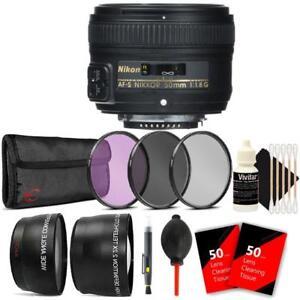 Nikon AF-S NIKKOR 50mm f/1.8G Lens + Accessories For Nikon D7000 , D7100 , D7200