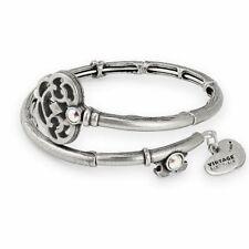 Alex and Ani V18WK01RS Key Wrap Rafaelian Silver Charm Bangle Bracelet