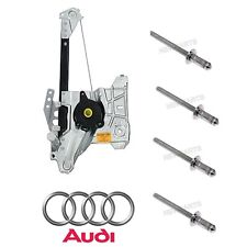 Audi A4 Quattro S4 96-02 Rear Driver Left Window Regulator with Rivets Genuine