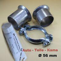 Auspuff Reparatursatz für Abgasanlage , Set mit Montagepaste  Ø 56 mm