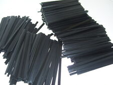 "200 PLASTIC BLACK 4"" TWIST TIES - GENERAL USE"
