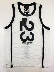 Air Jordan 23 Engineered Stitched Jersey Mens Size Large AT9781-100 White Black