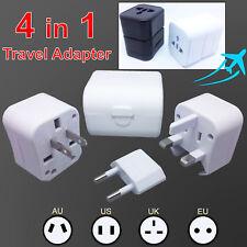 Universal Travel Adapter International UK US USA EU AU Australian Power Plug White