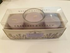 Crabtree& Evelyn  Lavender Scented Votives x 3 With Glass Holder